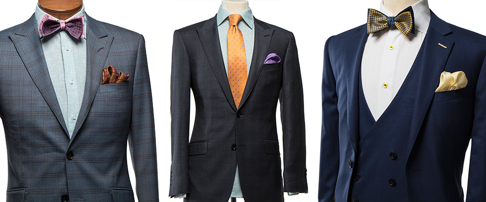"""The Franco Fit is an athletic Italian cut that forms to the body like no other suit that you will ever wear. We use the highest quality of fabric (including Ermenegildo Zegna, Loro Piana, Lanificio Cerruti, and Reda) on a canvas construction tailored with more points of measurement than any other """"suit supplier."""""""