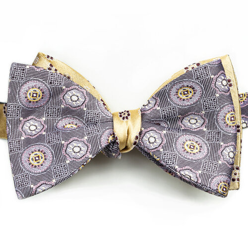 FTSUCQ Mens Formal Classic Vintage Silk Bow Ties /& Tie Clip Three PCS