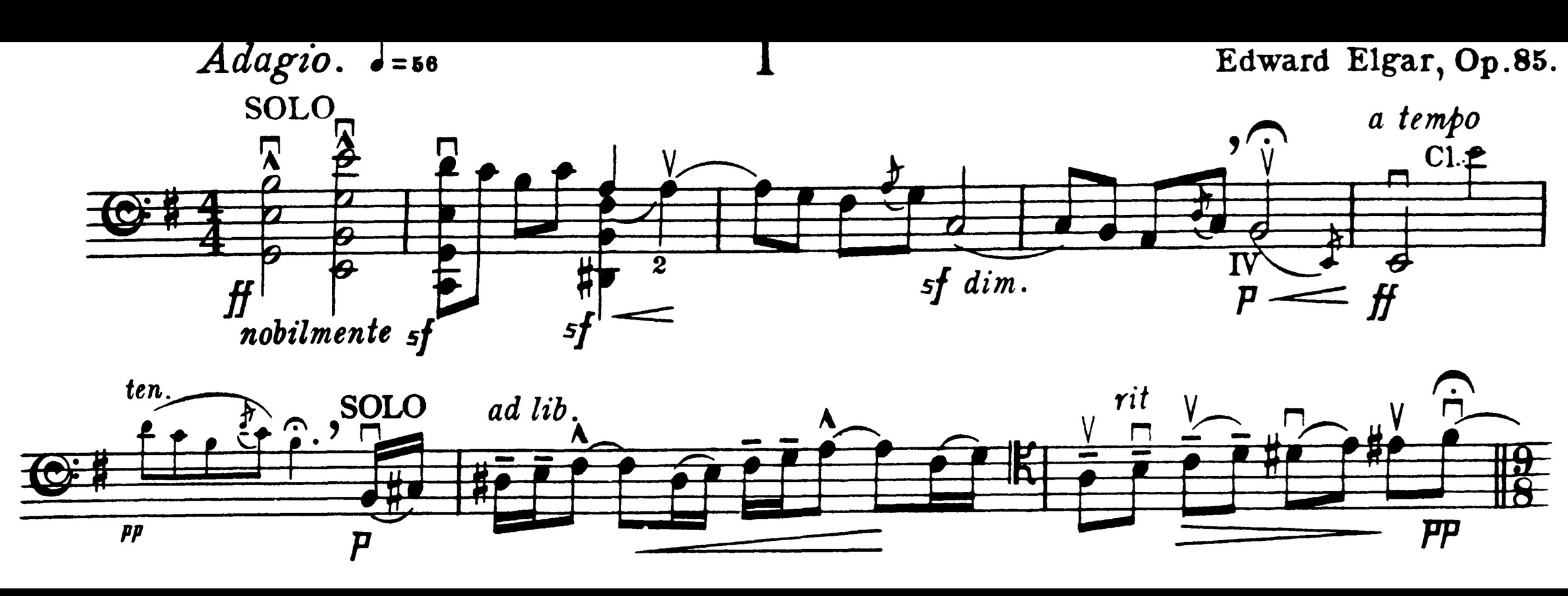 The grand, quasi ad libitum opening of the first movement