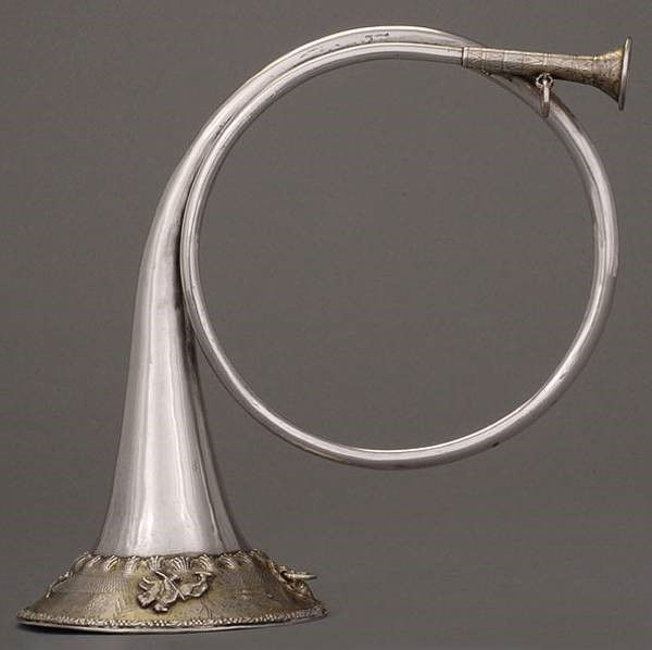 A hunting horn circa 1700s
