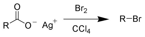 - The Chemical formula for the Borodin Reaction