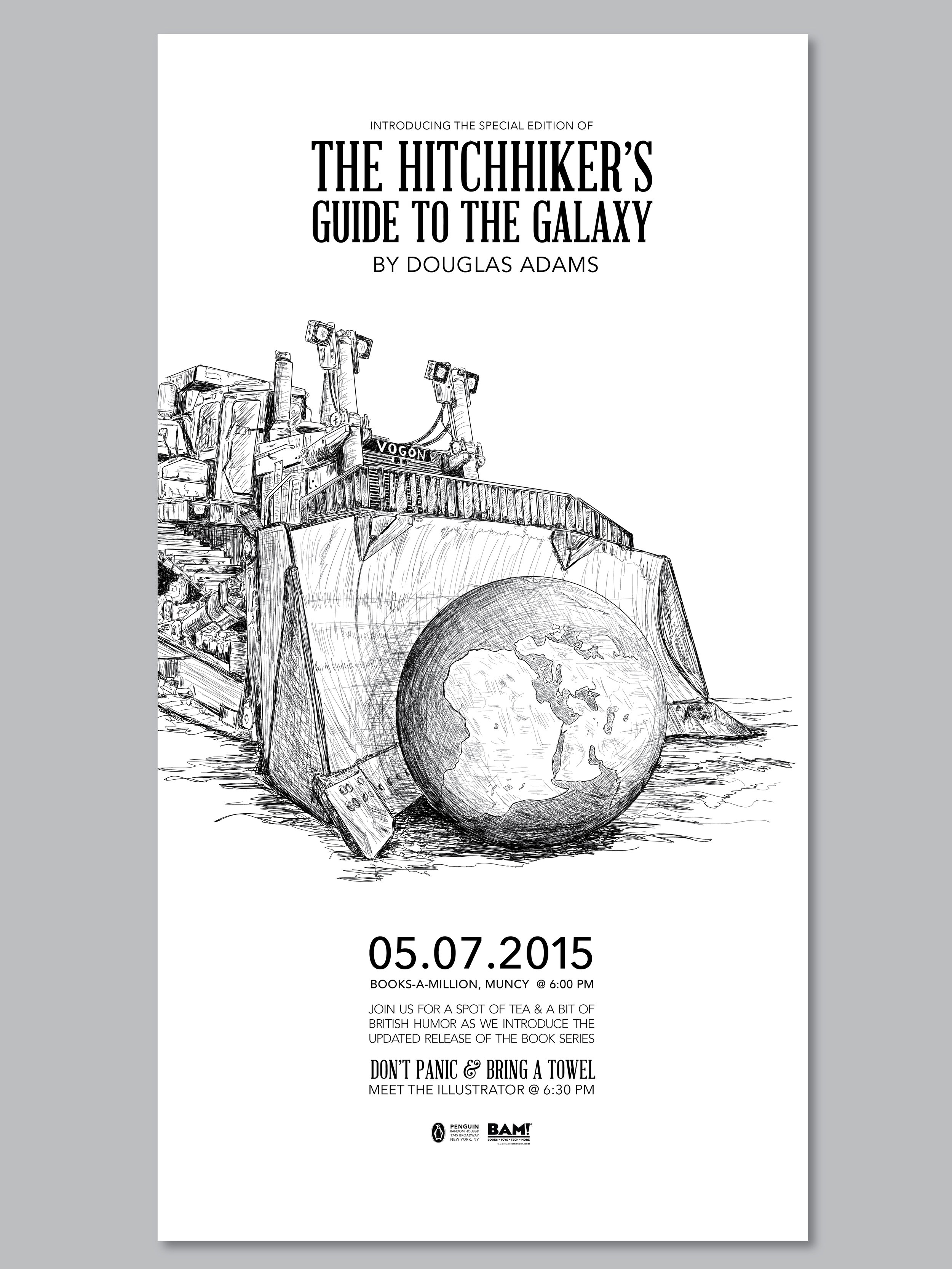 The Hitchhiker's Guide to the Galaxy Box Set Release Poster