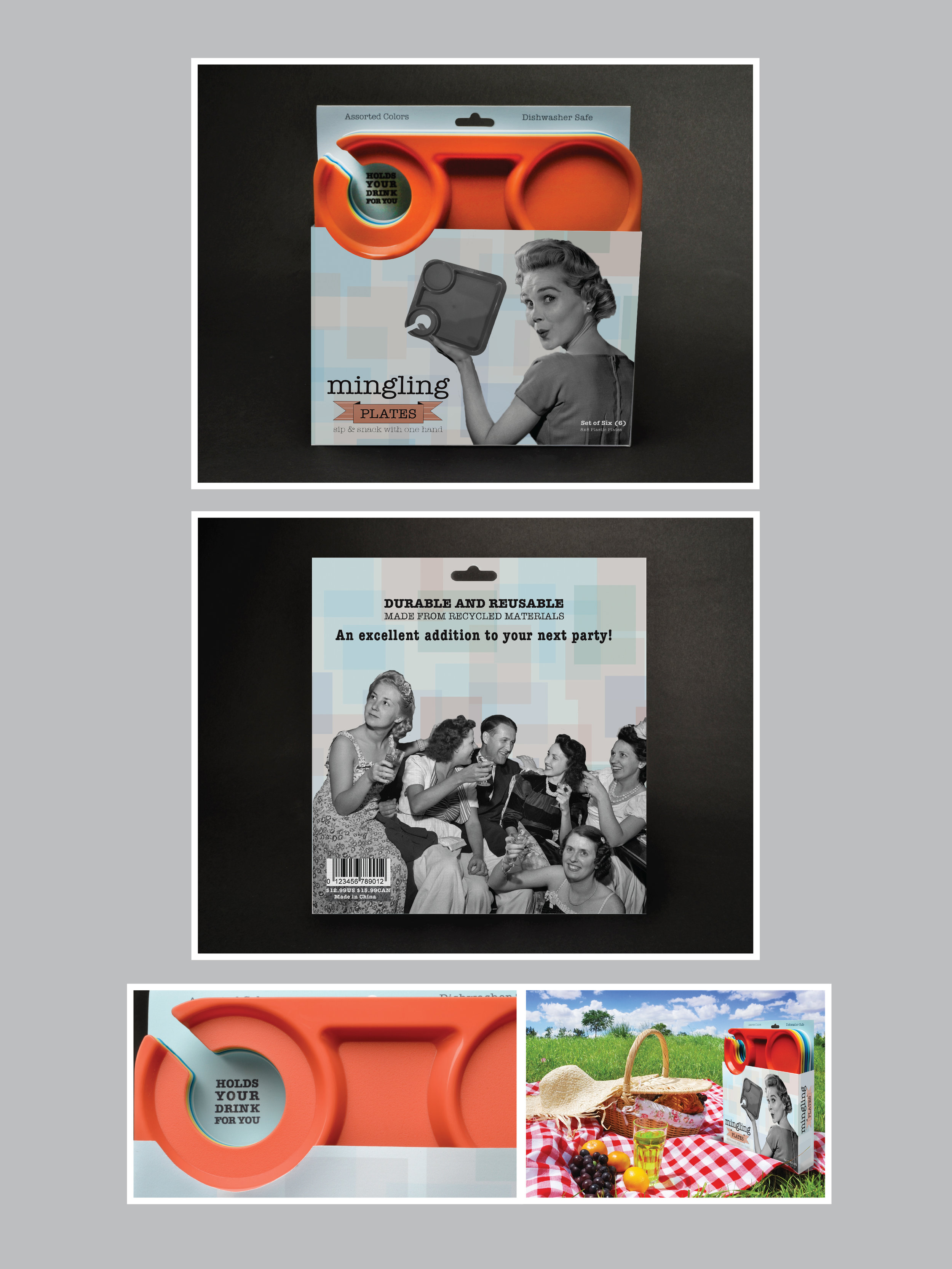 Mingling Plates Package Redesign