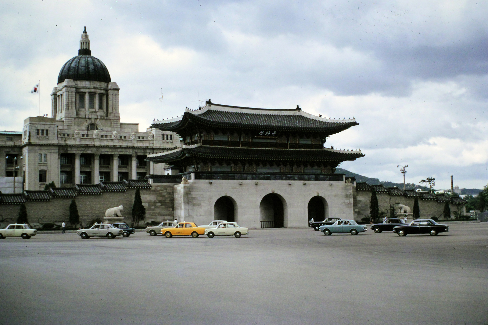 The Japanese Government Building of Seoul on top of Gyeongbok Palace (1973)  Photo Credit: Stephen Booth