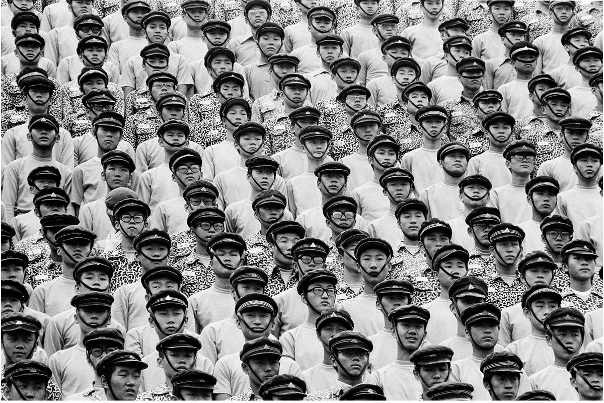 High school military training class, Seoul (1975)  Photo Credit: BR3 Project