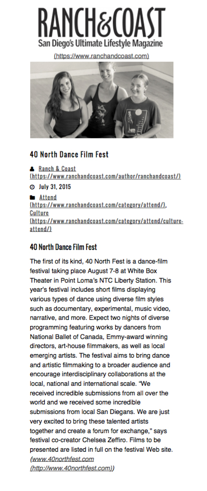 Ranch & Coast - 40 NORTH Fest