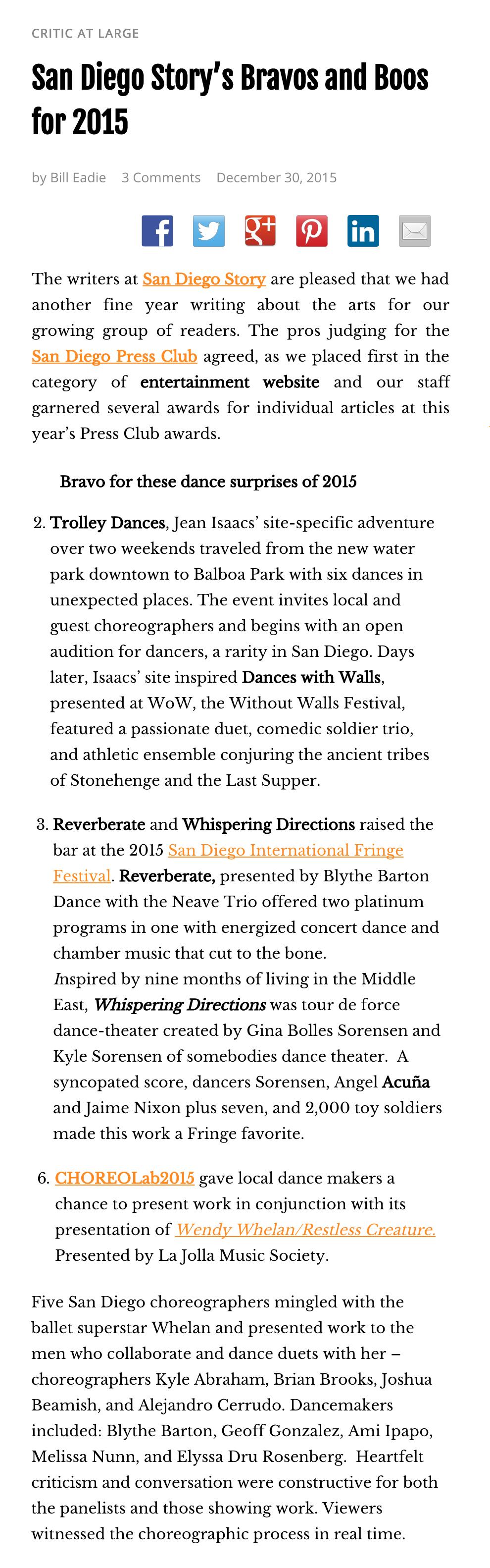 San Diego Story - Best of Dance 2015