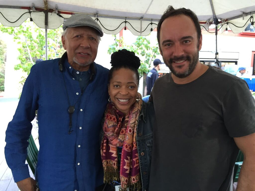 Saxophone great Charles Lloyd, Tawatha Agee and Dave Matthews