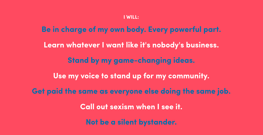 The United State of Women Pledge