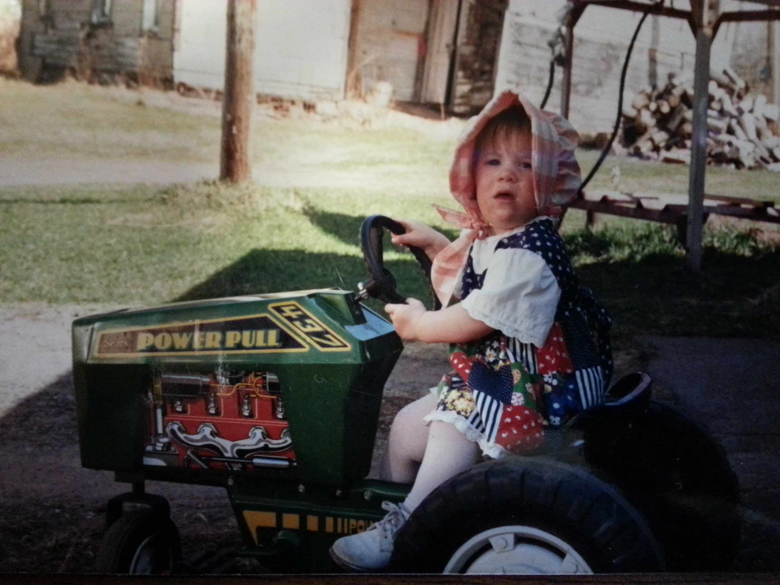Amy got an early start in farming!