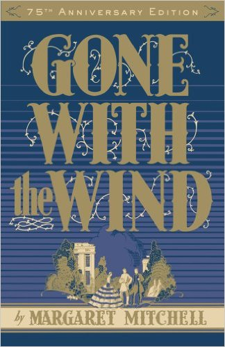 """Gone with the Wind by Margaret Mitchell  """"The first real epic I got into with a strong female lead. I know this book has many unacceptable elements, but I still say Scarlett O'Hara was one tough woman. I must have read this book 10 times in middle/high school."""