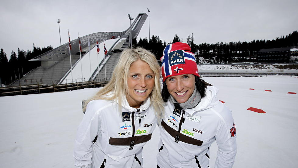 Johaug, left, and Bjorgen, right, in 2012  Photo from www.dagbladet.no.