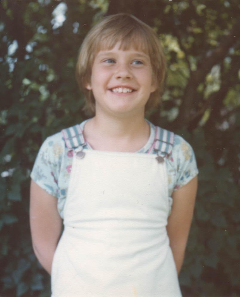 Wendy as a girl in Oak Park, Illinois
