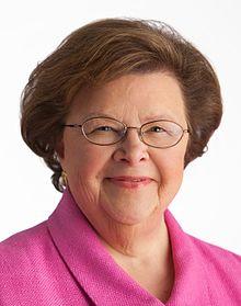 Senator Mikulski in her official Senate portrait