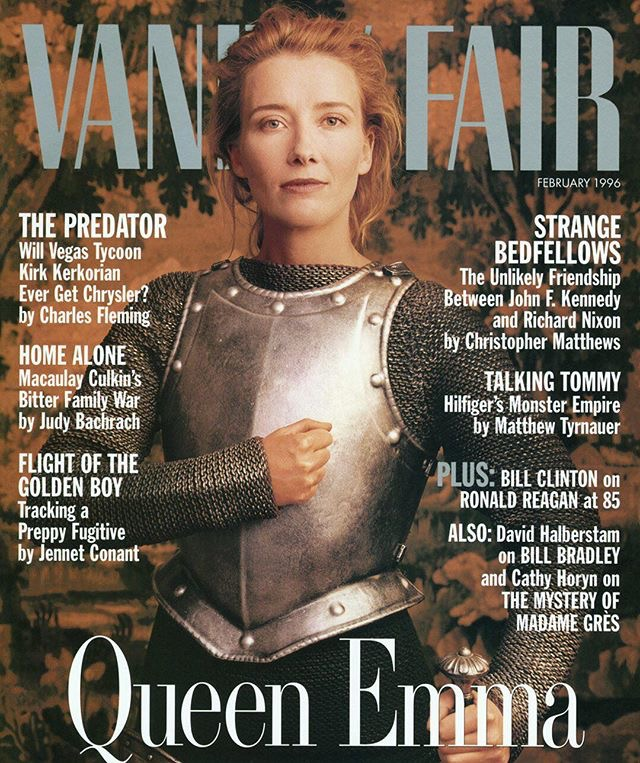 "We stand by our  statement  that ""warrior Emma Thompson is 2017 goals.""  Image via Vanity Fair"