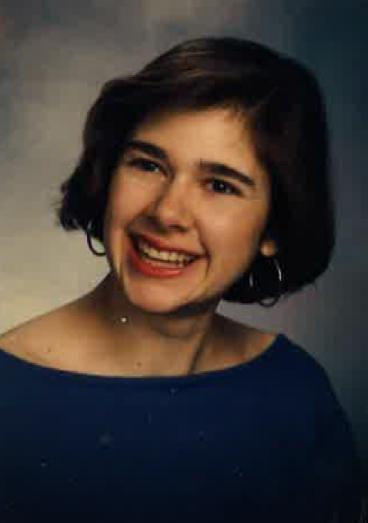 Amanda as a senior in college