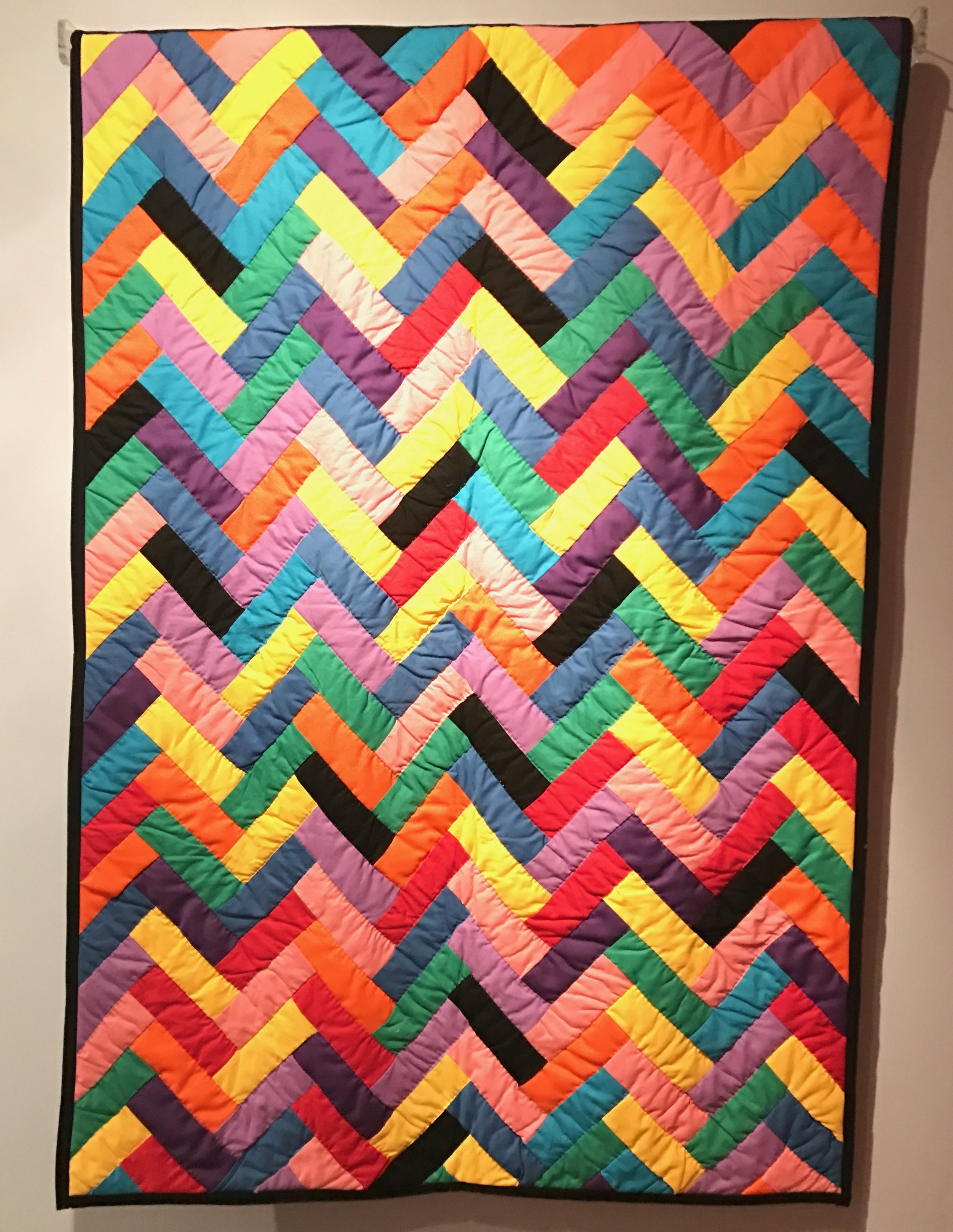 """""""Joseph's Coat of Many Colors"""" made by the Gee's Bend quilters in 1980. The quilting community is incredible and their beautiful works have been featured in museum exhibitions around the country."""