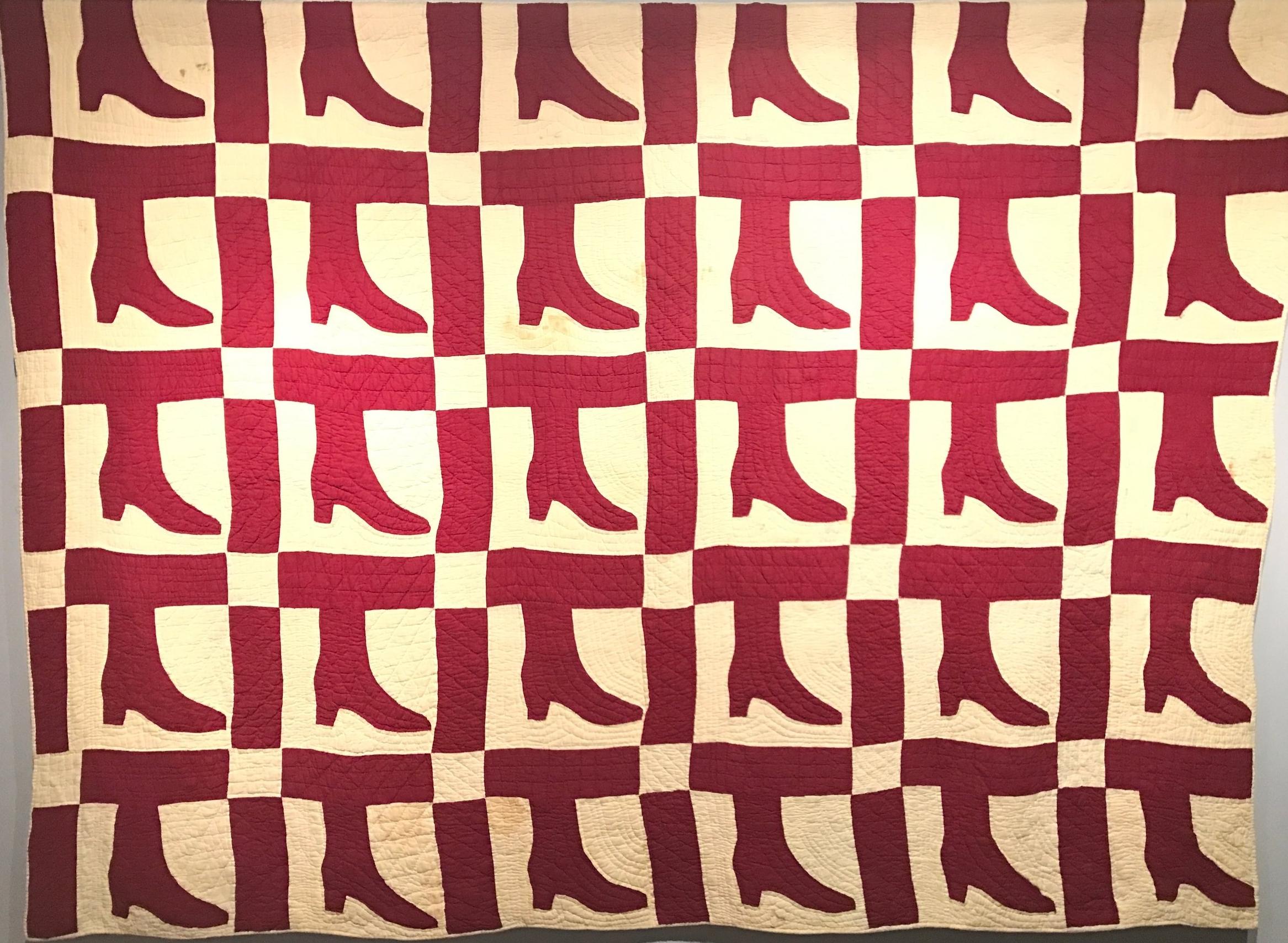 Lady's Shoe Quilt 1890
