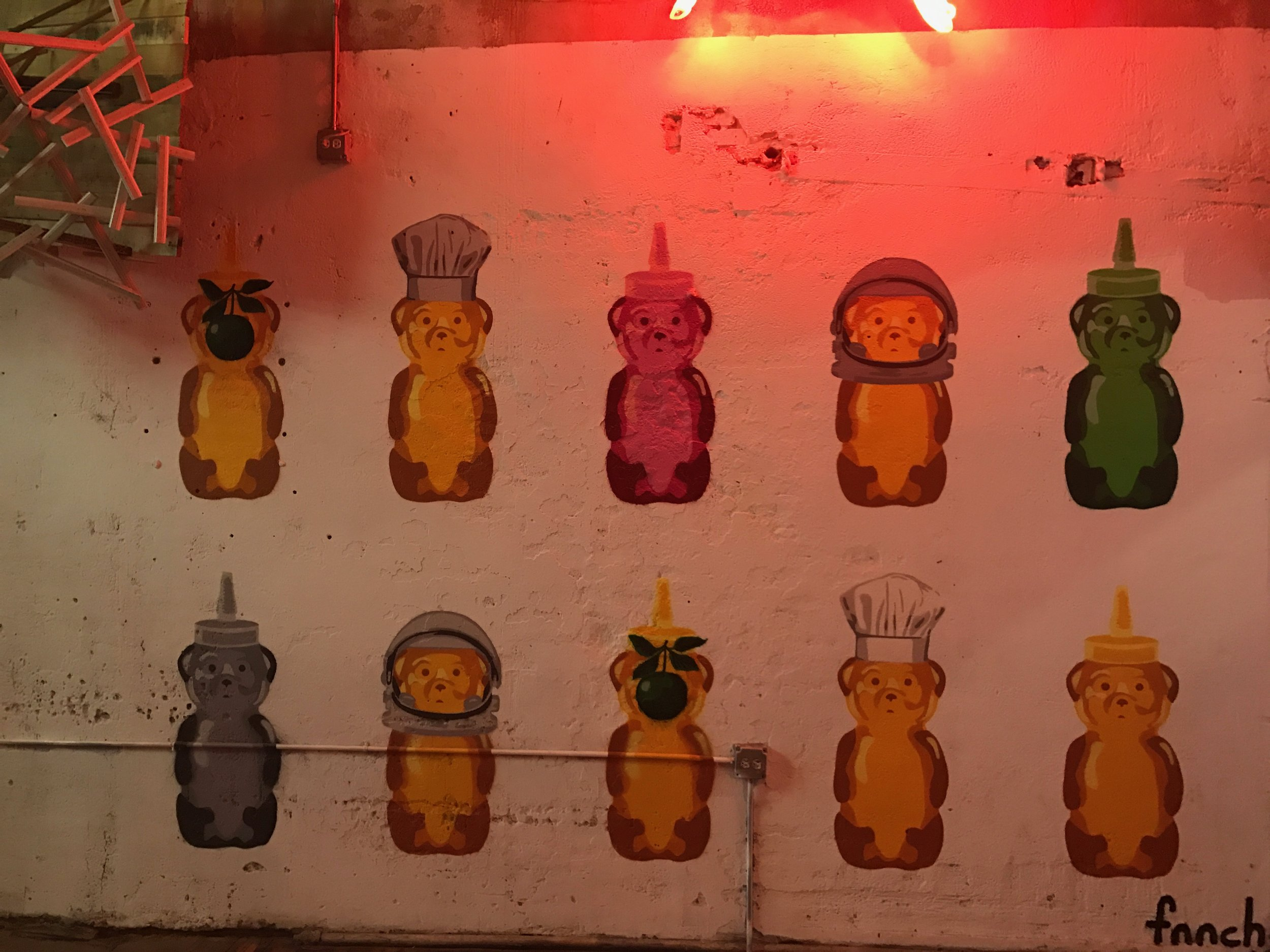 Honeybears by fnnch inside the building