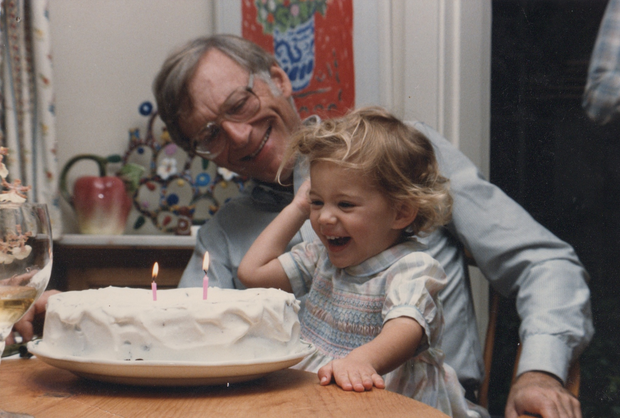 "Merin and her grandfather. Merin says her grandparents had ""an outsized influence"" on her life."