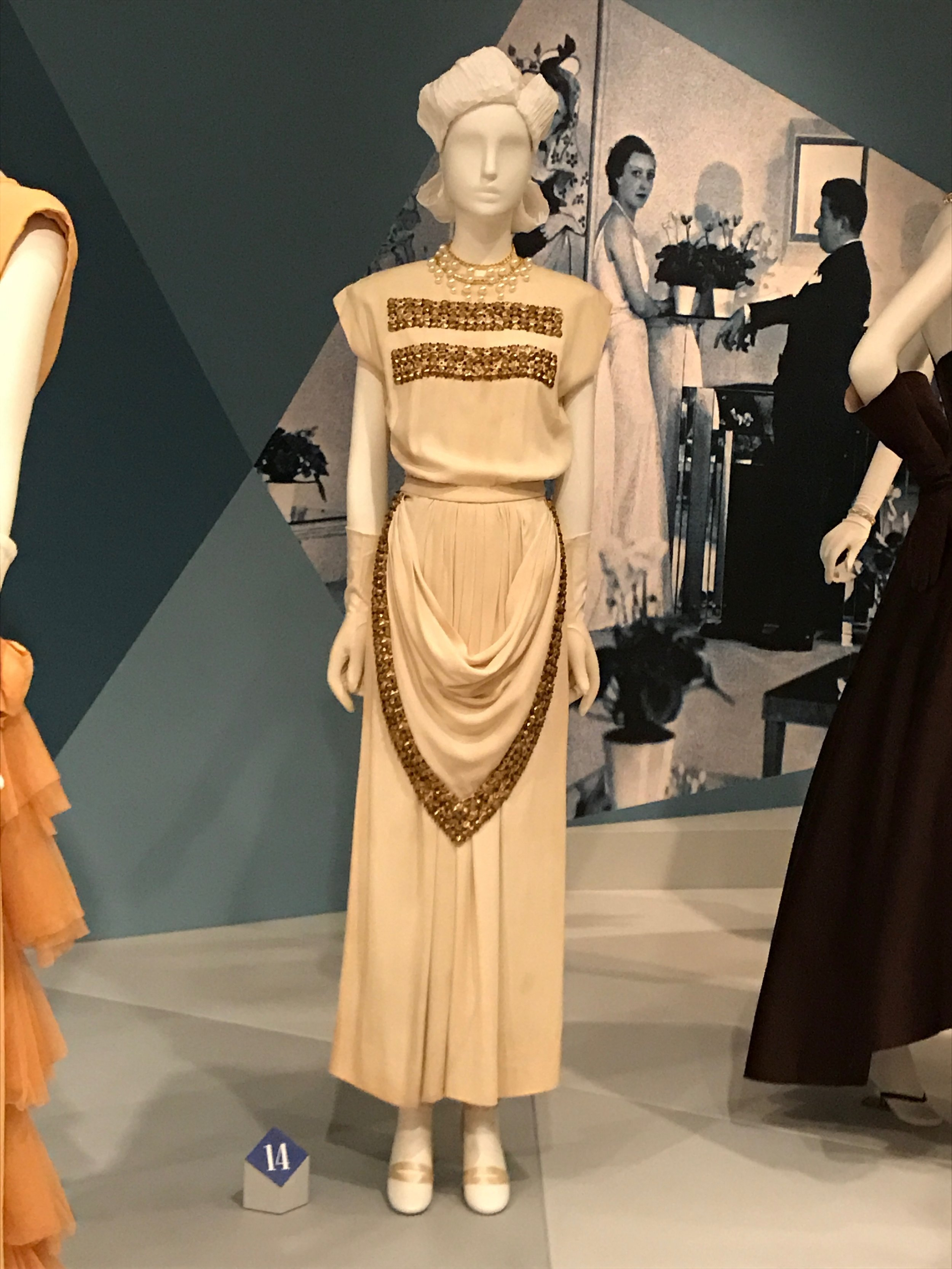 The restored dress, in all its glory