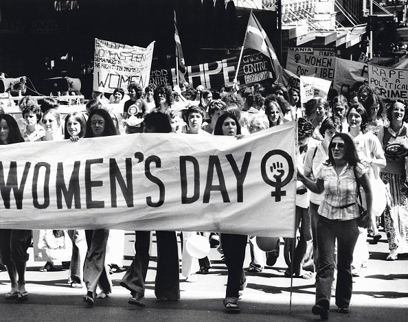 A Women's Day March in 1977
