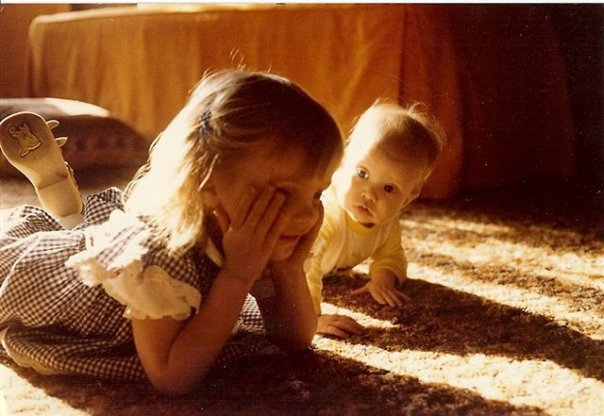 Teresa as a girl wth her sister