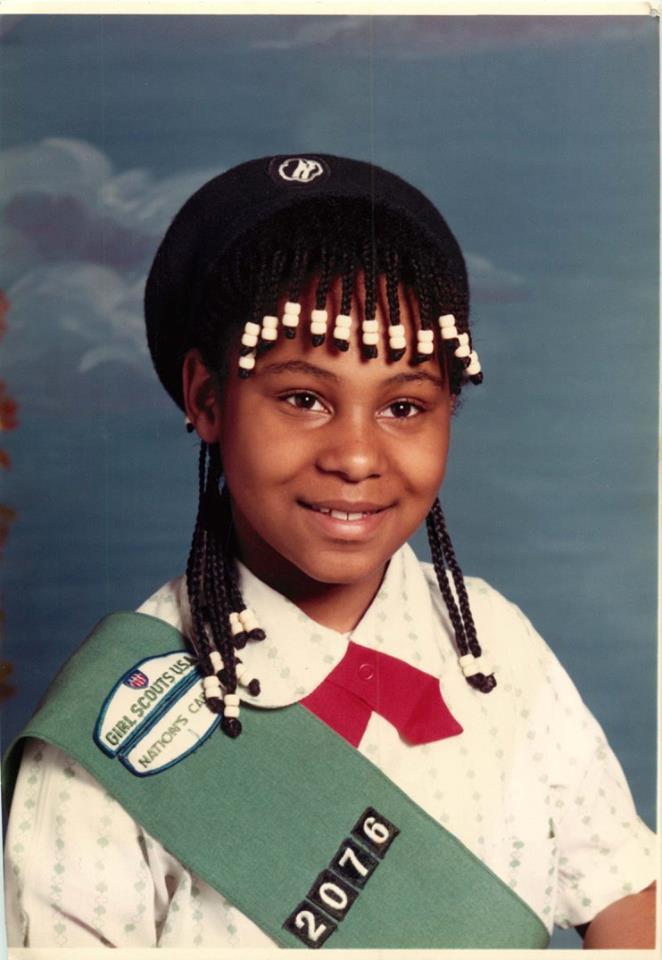 Janelle's 5th grade school picture
