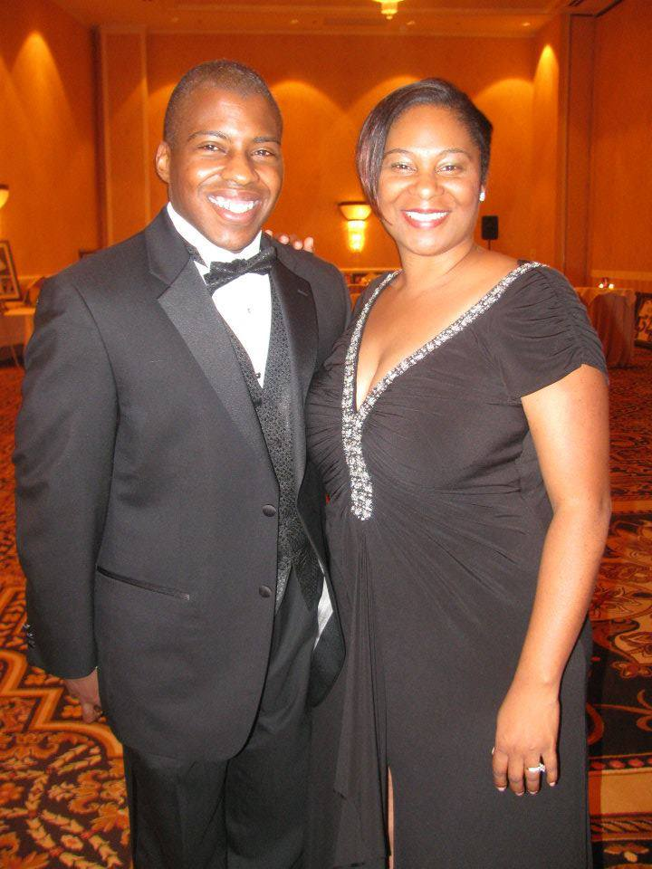 Janelle with her husband. Together, they operate four McDonald's locations.