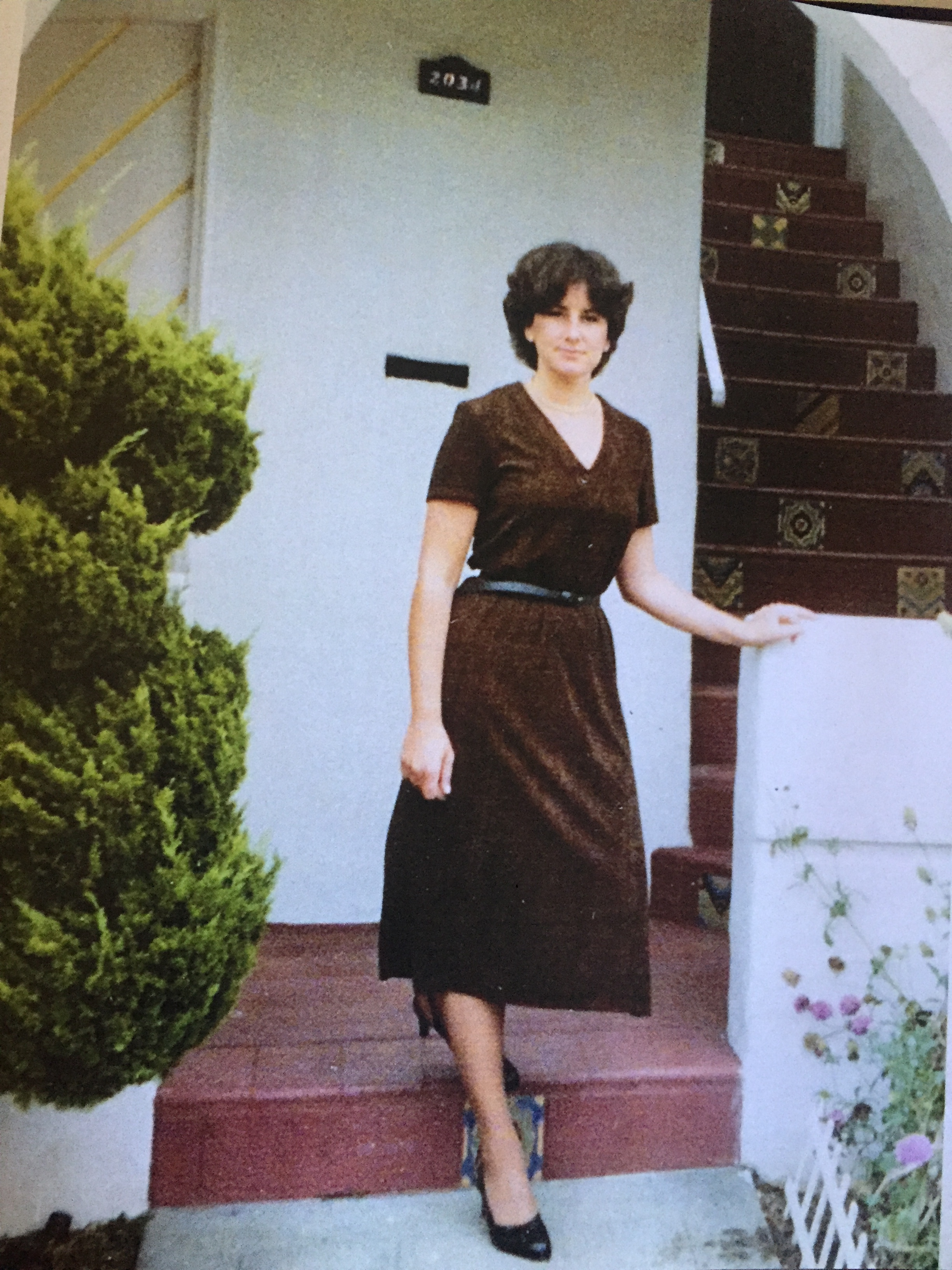 Sue on her way to work in 1979 around the time she moved to the Bay Area and met her husband and partner, Alan Cooper.