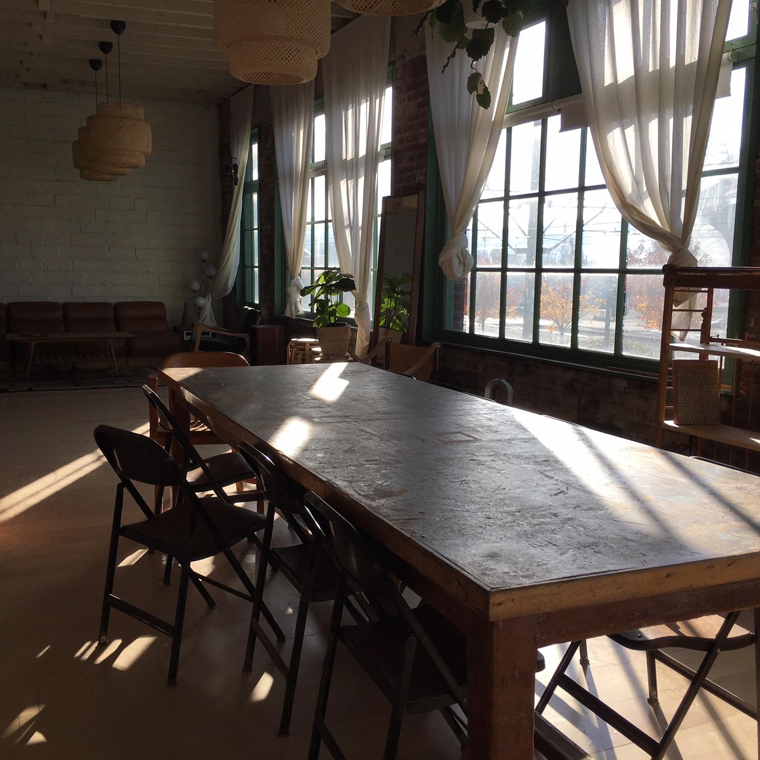 Innerland Studio Classroom above Beam & Anchor