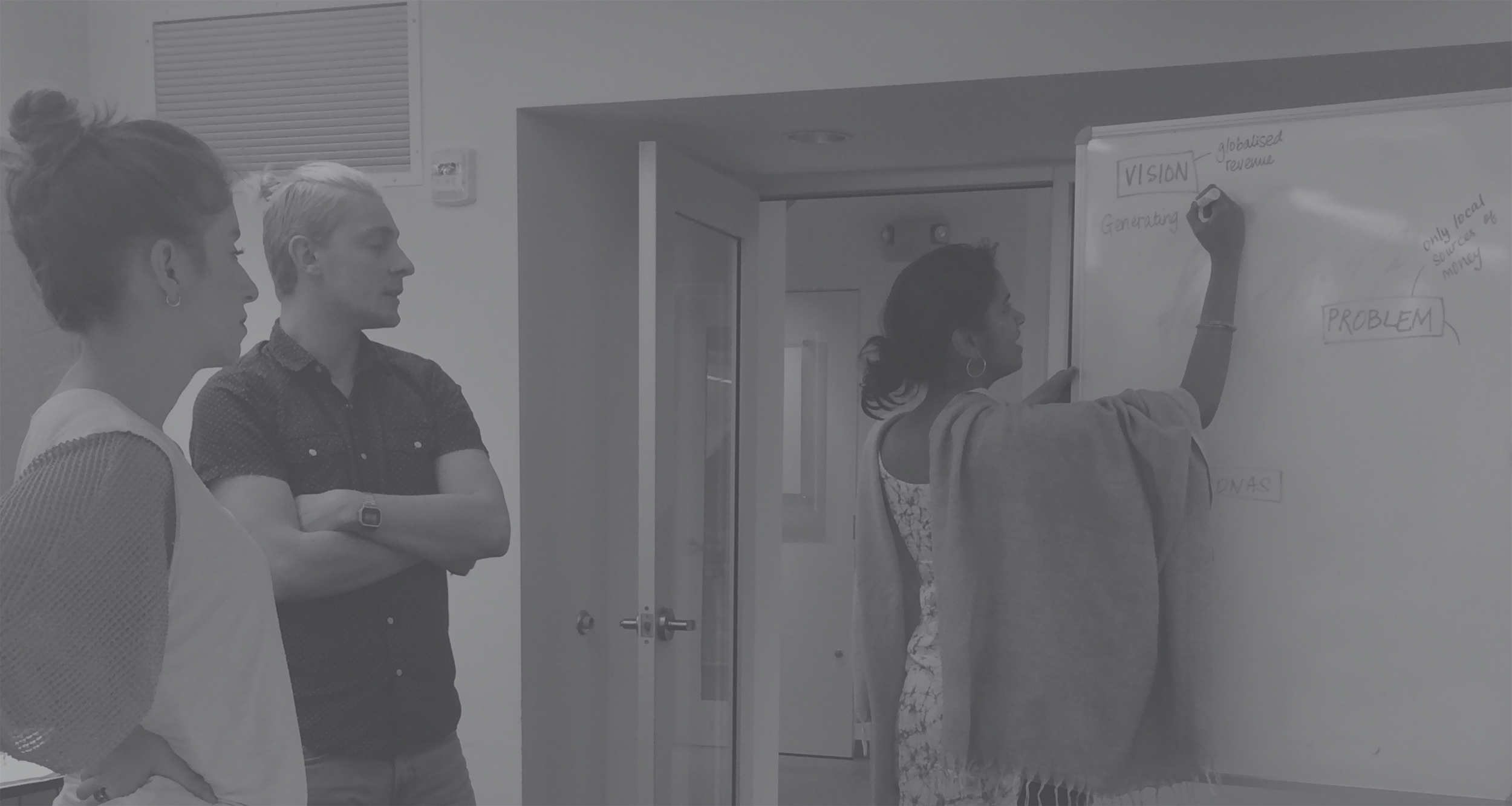 My role was primarily to identify personas, develop scenarios & their corresponding functional elements. We worked together to create wireframes, user tests, the identity and visual interface. -