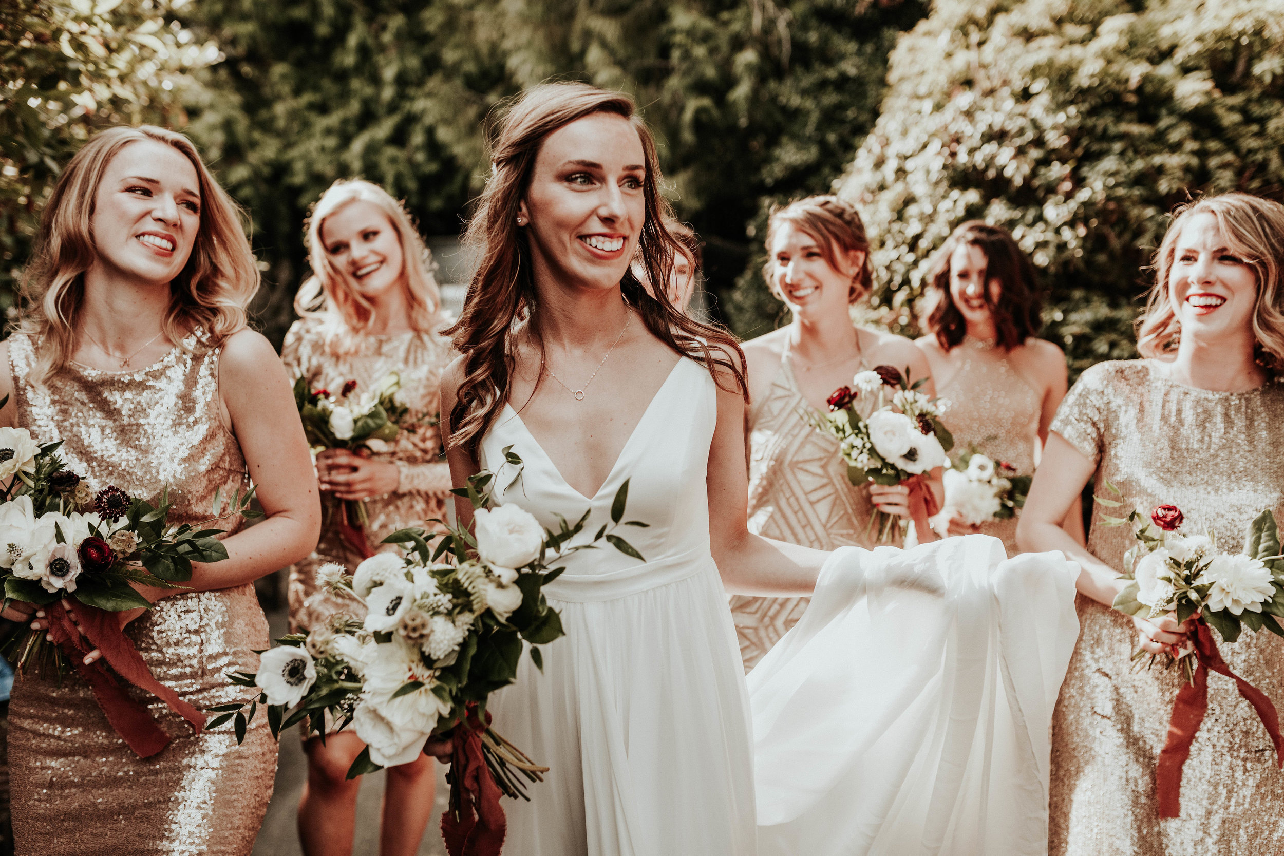 taylor + ryan - this portland wedding at the colony was minimalist with a touch of glam
