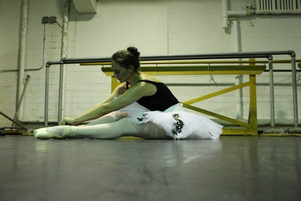 In rehearsal for Grand pas Hongrois, Raymonda, 2014.    University Ballet of Chicago. PC: Ben MArcus