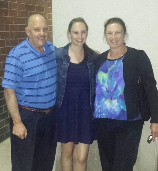 My parents, always supportive, came to a dance recital in Chicago.