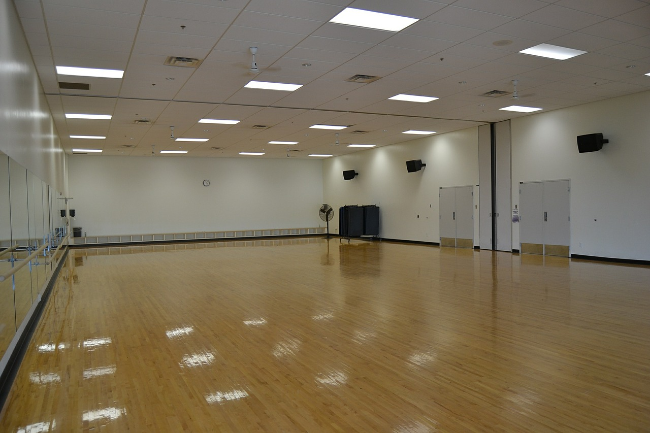 large mirror dance studio