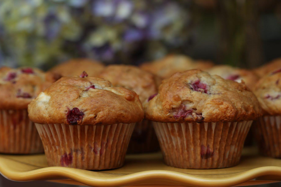 home baked muffins still warm
