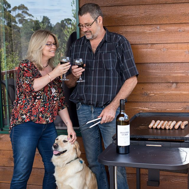 Enjoy a local wine, and a barbeque on your private balcony, overlooking the valley. At Misty Valley Country Cottages in Denmark, WA, we want your holiday to be as special as possible. Furry family members welcome of course!
