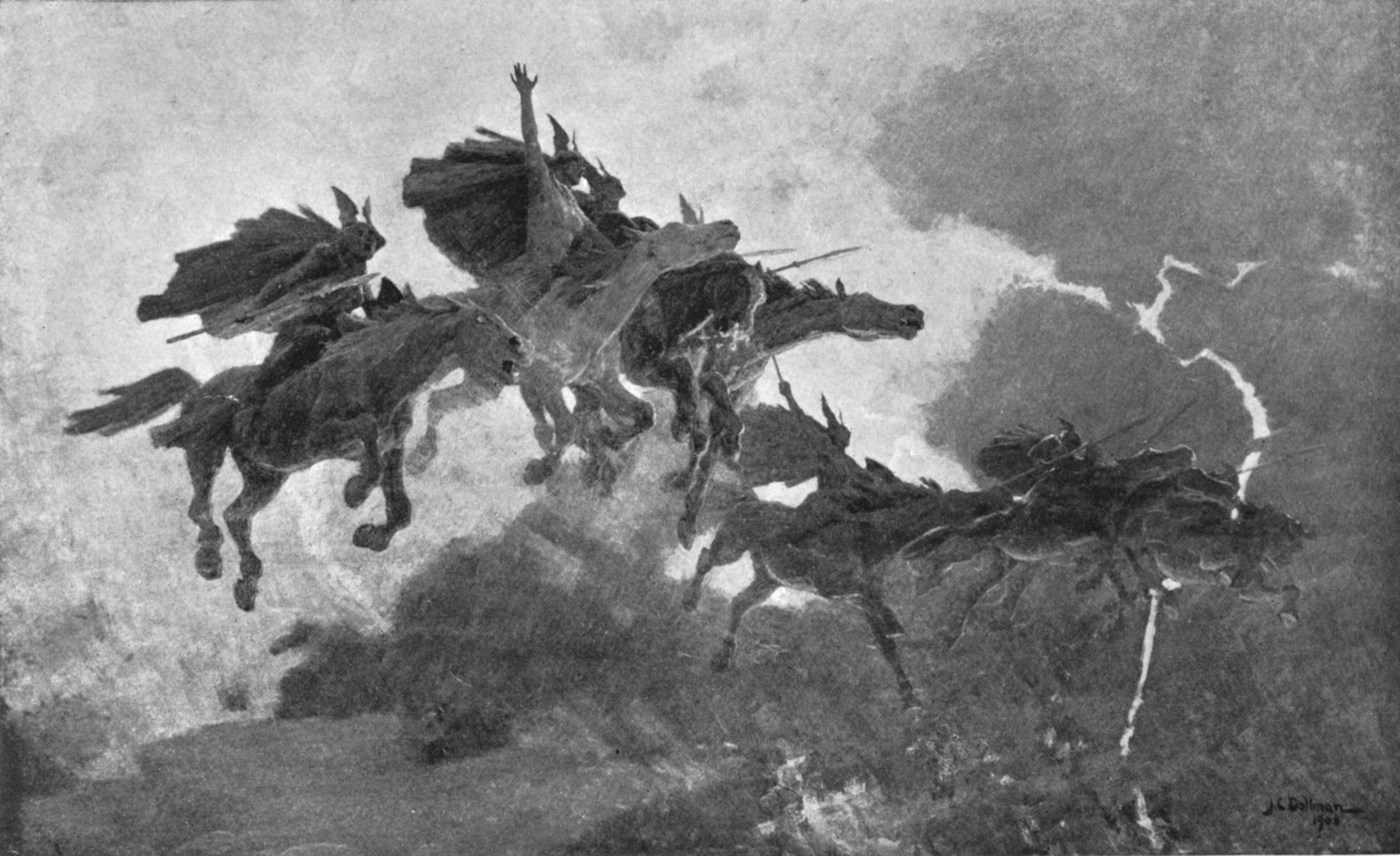 Ride of the Valkyrs (1909) John Charles Dollman