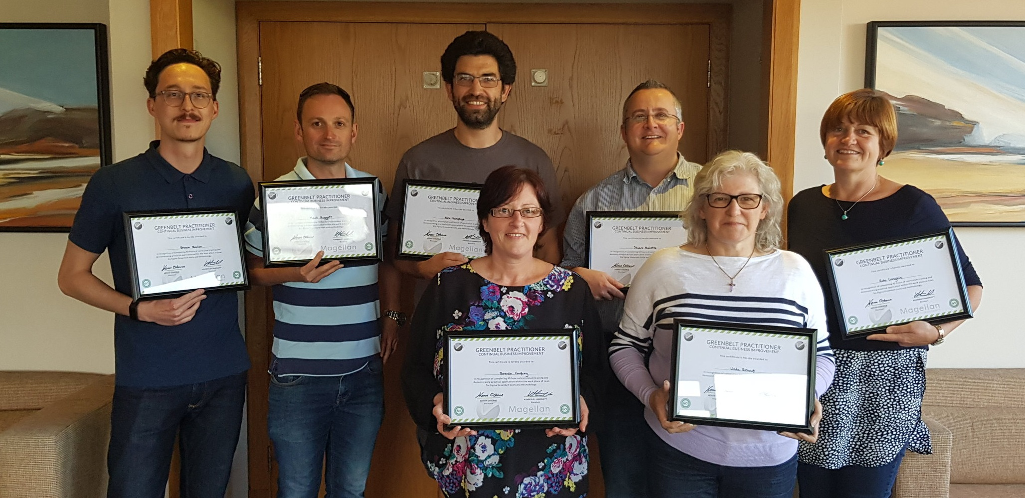 Congratulations to our first cohort to pass the Magellan Consultancy Lean Practitioner Business Improvement Course. This is a 5 day course delivered over a month, where delegates work on resolving a real business problem, with mentor support throughout. To find out more contact us - JUNE 2019