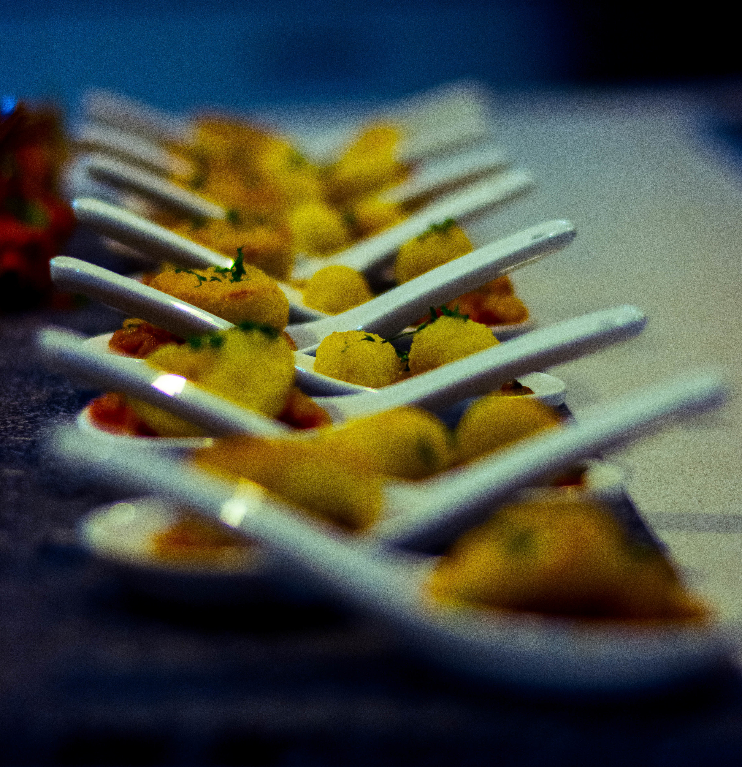 So often the food at weddings is really average – we wanted something special so we hired The Canapé Project to cater for our wedding on a recommendation from a friend, and we were ecstatic with the food and the service that was provided! Matt cooked food that tasted incredible, and all our guests raved about it. Perfect match to our perfect day.  - Belle & Luke, Sandgate