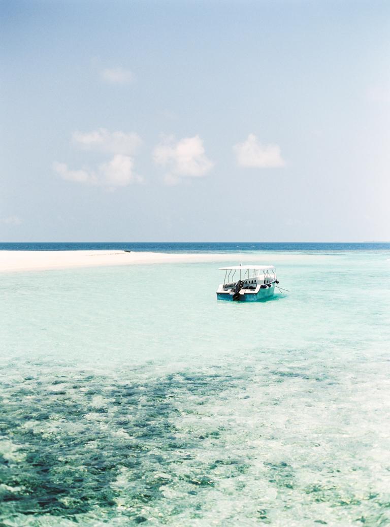 Maldives Boat in the Ocean