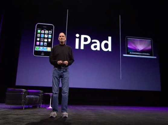 Steve Jobs introducing the iPad in 2010 (source: www.businessinsider.com)