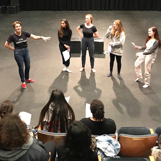 Katherine teaching at Interlochen Arts Academy for MITTEN Lab, 2017