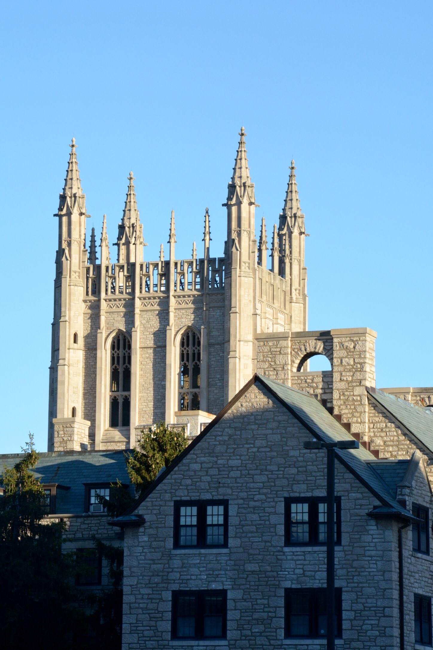 Basically, I think of any campuses with at least 25% neo-gothic buildings as our peer institutions...I think that's how it works...