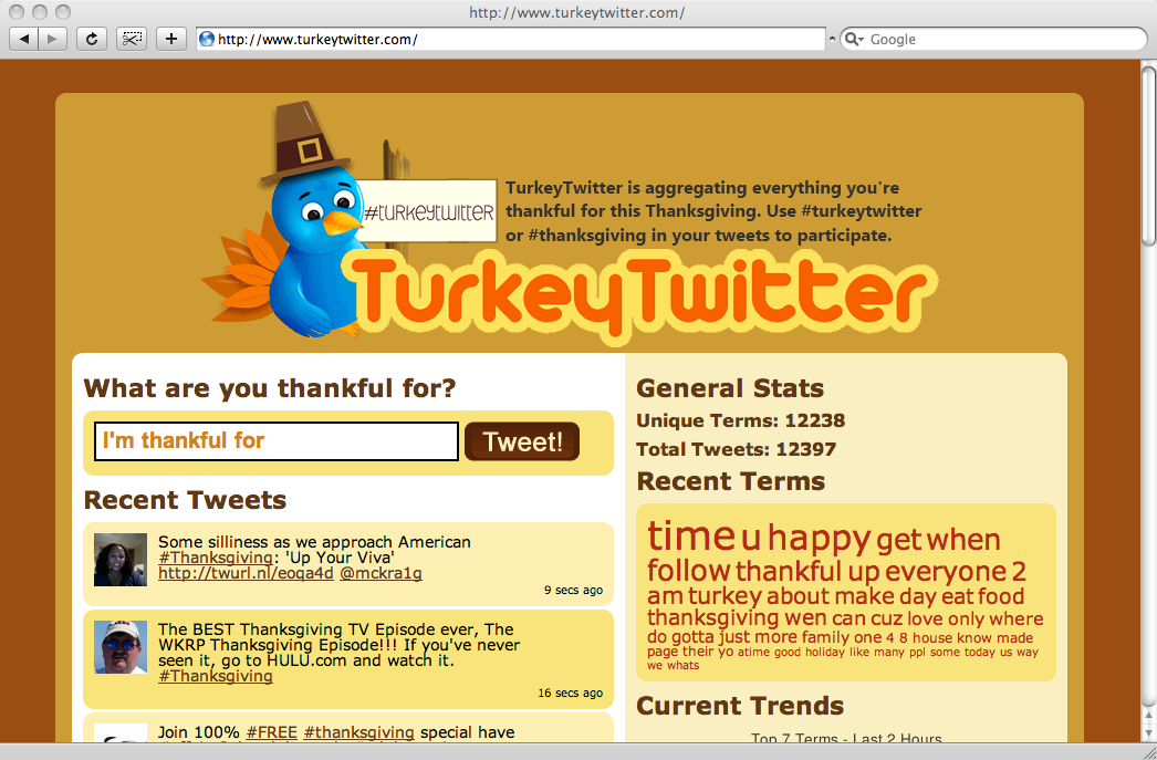 Screenshot of Turkey Twitter on the morning of release.