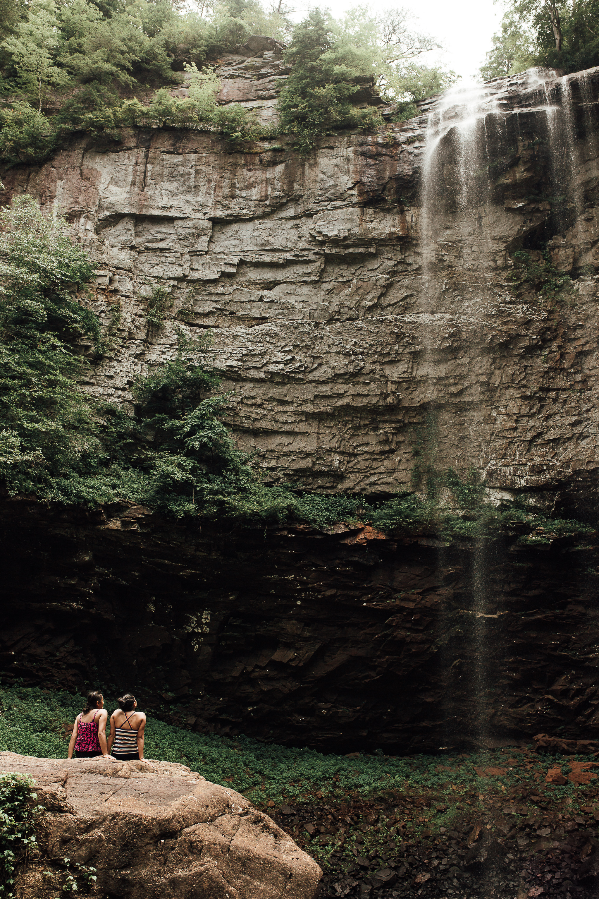 This photo is probably my favorite from our weekend trip to Fall Creek Falls and Chattanooga. I don't know these girls, or their story, but I think that's part of why I like it so much. Whether they're sisters, partners, best friends, or whatever bond they have,  I got to capture them sharing this moment together taking in this incredible, towering waterfall hanging above them. I imagine that Monday morning they went back to work like everyone else... but on Sunday, they were adventurers, travelers, explorers...