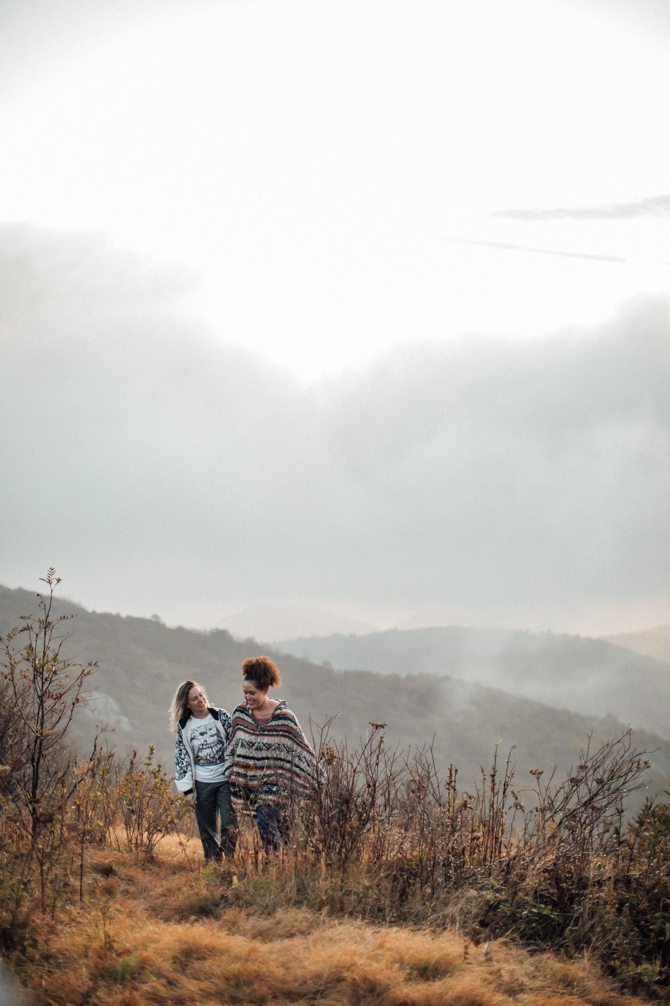 cassie-cook-photography-black-balsam-knob-sunrise-hike-same-sex-engagement-session-asheville-wedding-photographer