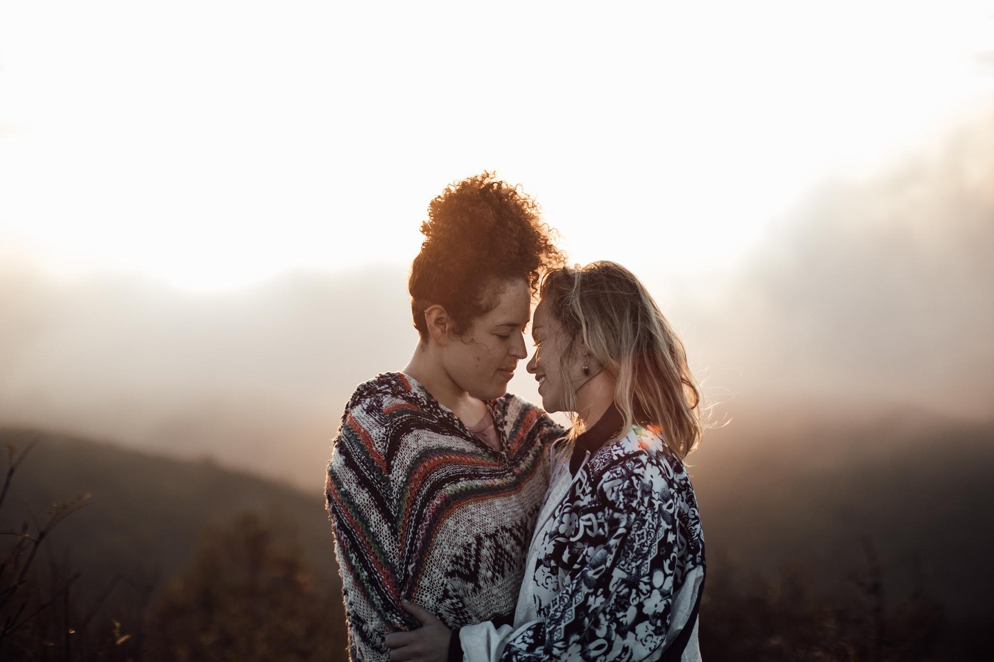 cassie-cook-photography-asheville-wedding-photographer-same-sex-couple-engagement-pictures-black-balsam-knob-sunrise-hike