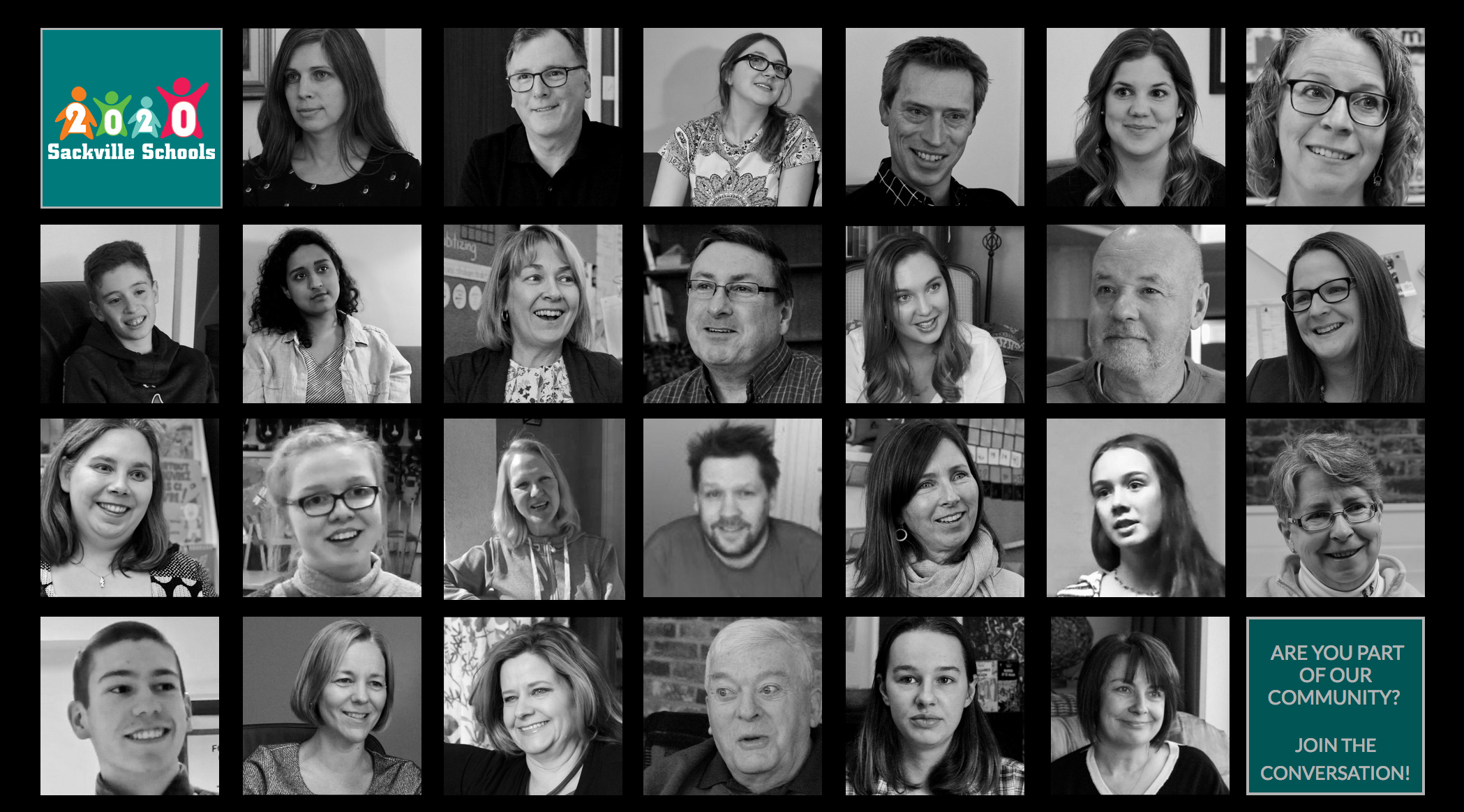 Above are just some of the voices from the community that have contributed to the Sackville Schools 2020 movement over the past 3 years.